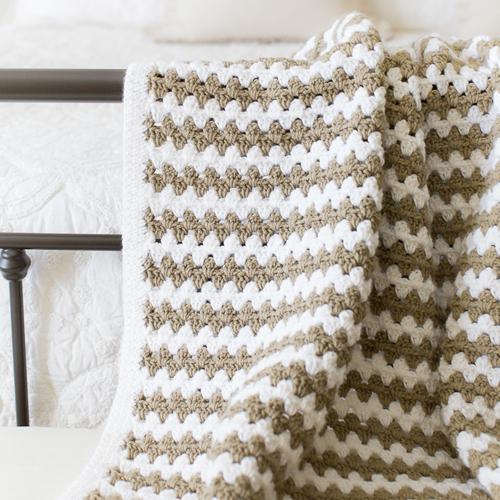Simple Granny Stripe Afghan - Free Pattern