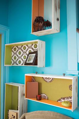 Tận dụng ngăn kéo cũ trang trí nội thất 1