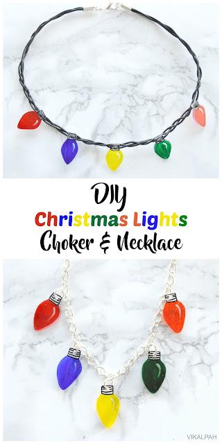 How to make christmas lights jewelry using shrinks sinks