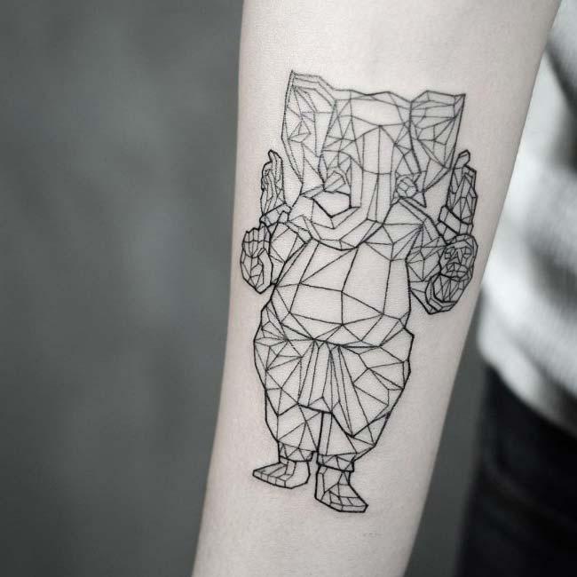 arm prizma elephant tattoo