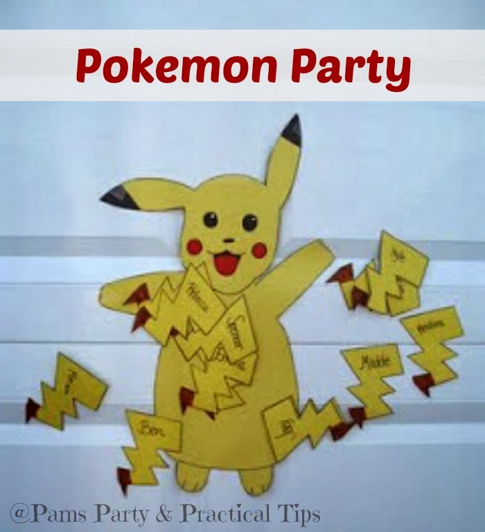 Pokemon Party Game, Pin the tail on Pikachu