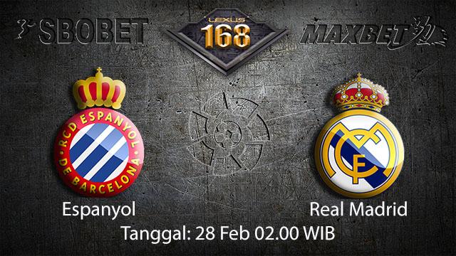 PREDIKSIBOLA - PREDIKSI TARUHAN BOLA ESPANYOL VS REAL MADRID 28 FEBRUARI 2018 ( SPANISH LA LIGA )