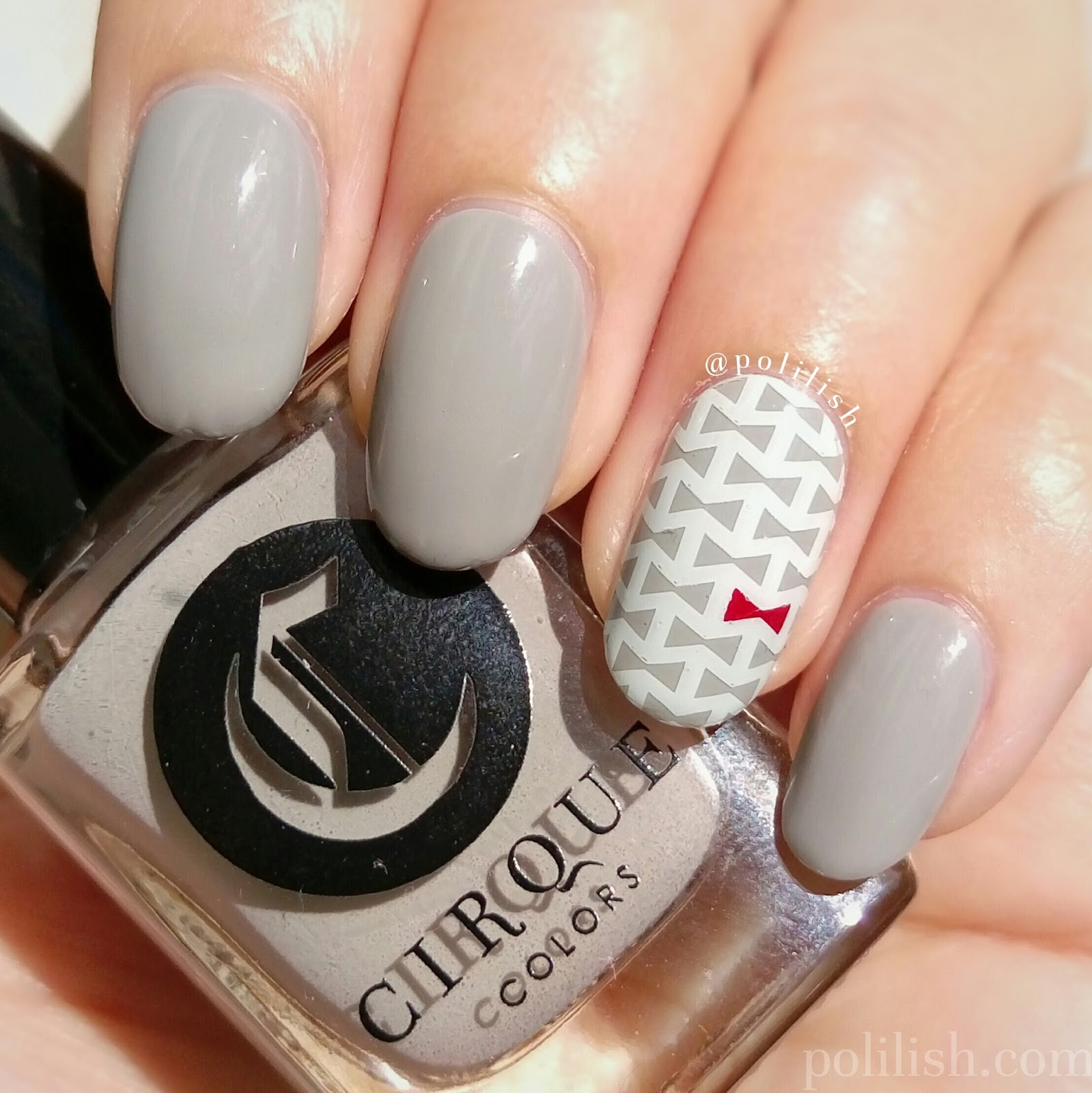 Cute Bow Tie Accent Nail Art Featuring Cirque Colors Page Six Polilish