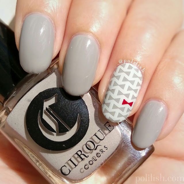 Cute bow tie accent nail art featuring Cirque Colors 'Page Six' | polilish
