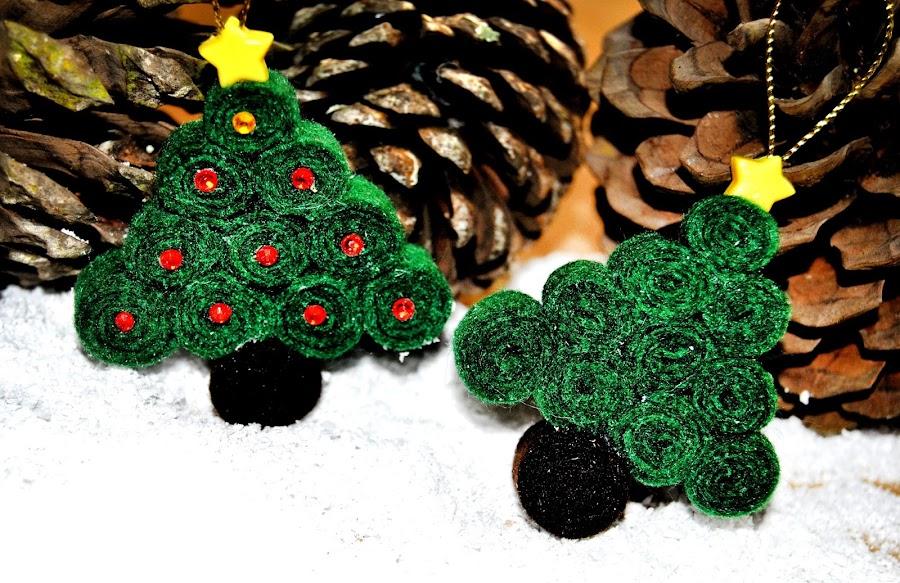 Arbolitos de fieltro para decorar tu rbol de Navidad Manualidades