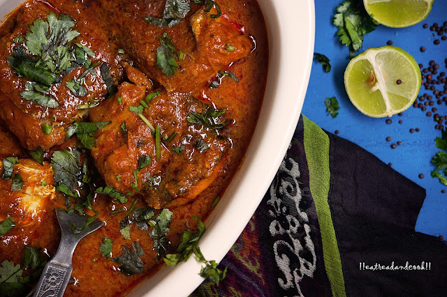 how to cook Chettinad Fish Curry with Coconut recipe and preparation with step by step pictures