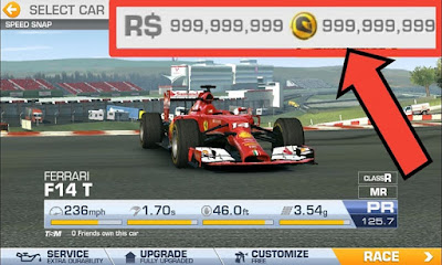 Hack Real Racing 3 Full Tiền