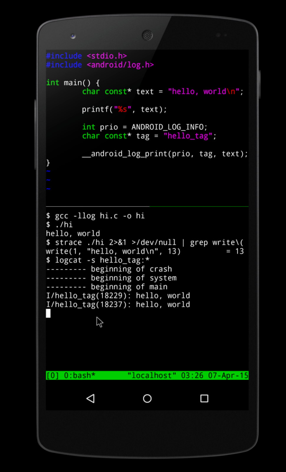 Termux is an Android Terminal Emulator like Linux Environment