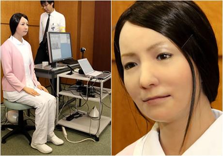 Imagen de robot on aspecto humano