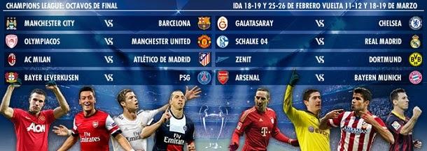 Calendario UEFA Champions League 2013-2014 - Sorteos y partidos