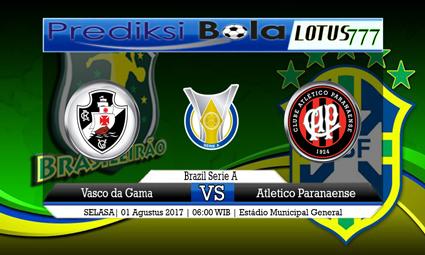 Prediksi Pertandingan antara Vasco da Gama vs Atletico Paranaense Tanggal 01 Agustus 2017