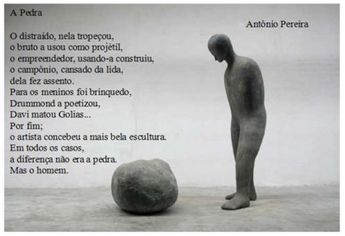 Poema A pedra, de Antonio Pereira (Apon)