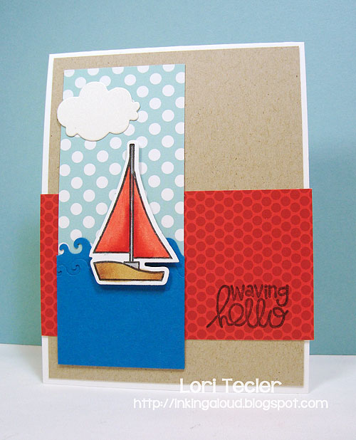 Waving Hello-designed by Lori Tecler/Inking Aloud-stamps and dies from Paper Smooches