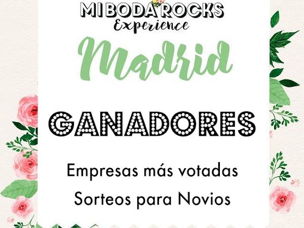 Ganadores Mi Boda Rocks Experience Madrid 2017