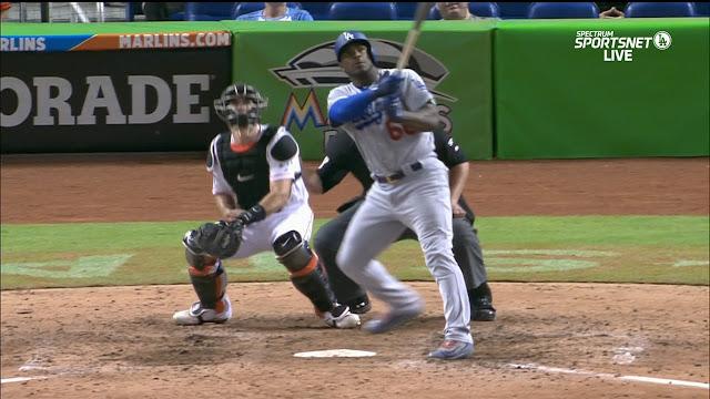 Puig les dio la victoria a los Dodgers sobre los Marlins con estacazo de vuelta completa con dos hombres a bordo en la parte alta del 9no episodio