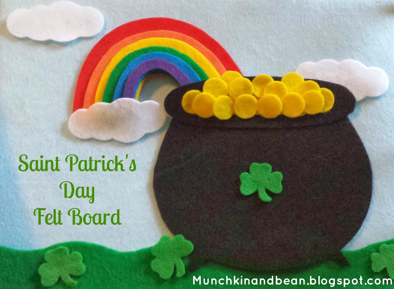 Munchkin And Bean Saint Patrick S Day Felt Board