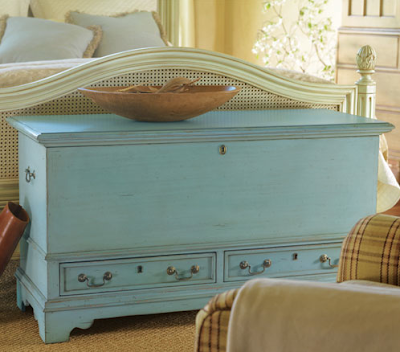 blue blanket chest