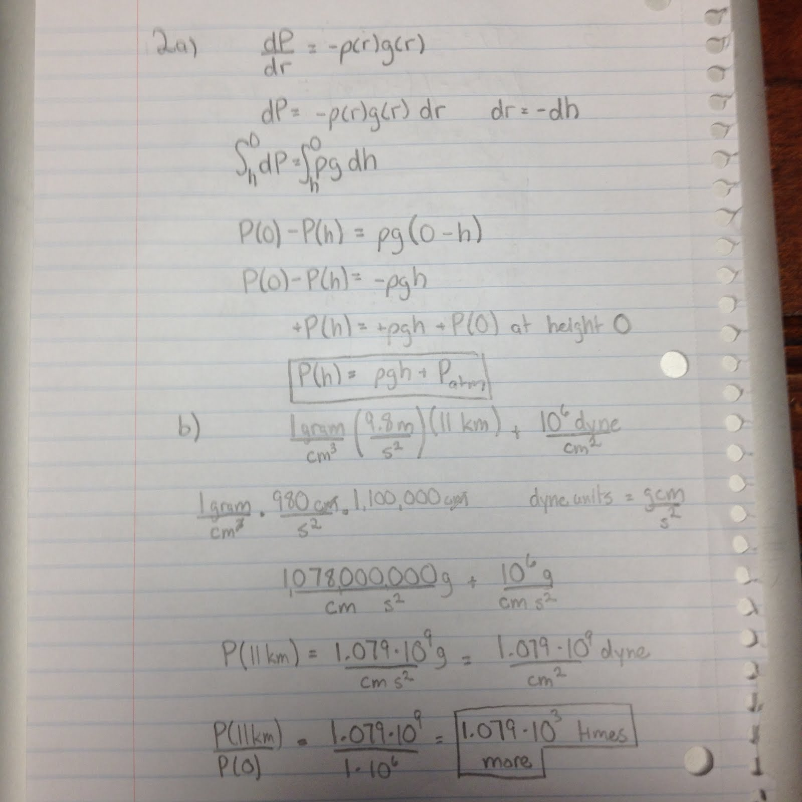 Worksheet 9 An Intro To Hydrostatic Equilibrium