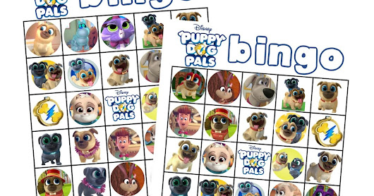 Free Printable Puppy Dog Pals BIngo