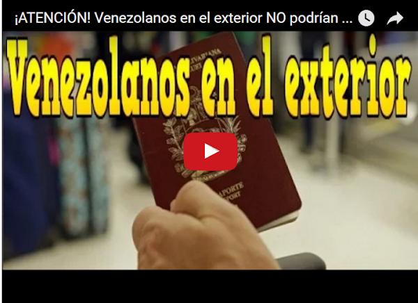 Quién salga de Venezuela no entra más y quien entre no sale!