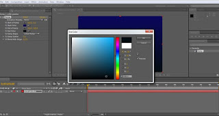 tutorial adobe after effect cs4 mengatur warna kedua gradien ramp