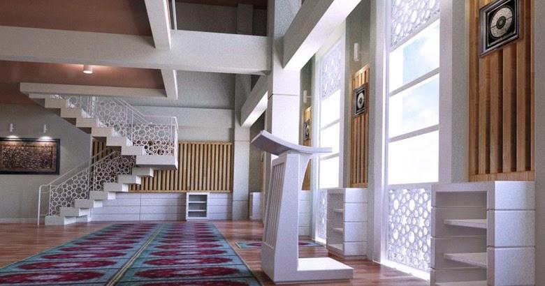 Desain interior masjid di makassar posisinya yang unik