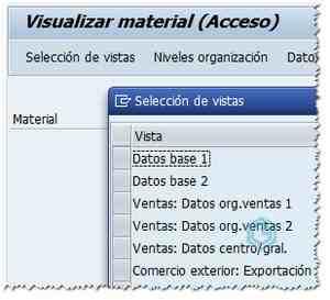 Vistas del Maestro de Materiales SAP - Consultoria-SAP
