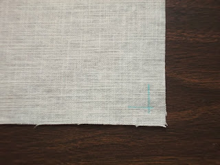 Easy Sewing Tutorial - How to make no hem linen napkins | The Chilly Dog