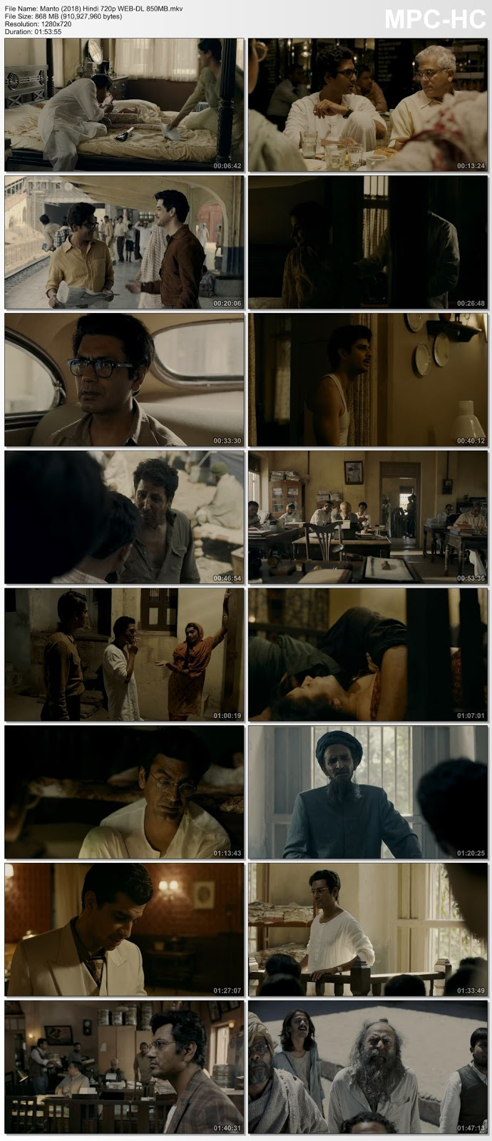 Manto (2018) Hindi 720p WEB-DL 850MB Desirehub