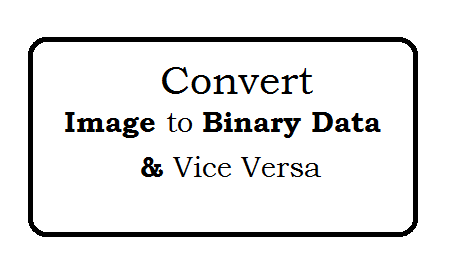Convert image to Binary Data and vice versa in PHP