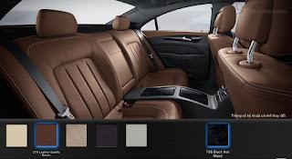 Nội thất Mercedes CLS 400 2019 màu  Nâu Saddle 214