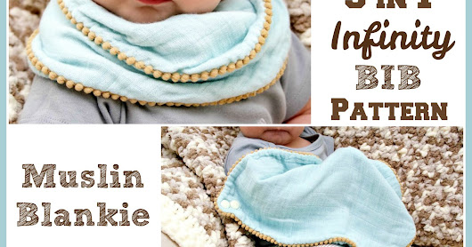 FREE Pattern Download: 3 in 1 Infinity Bib, Blankie & Burp Cloth