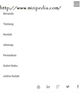 Cara buat Top Menu Bar Responsive + Medsos