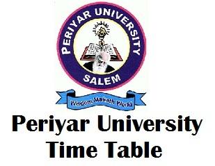 Periyar University Time Table Nov/Dec 2017
