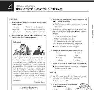 REPASO Y AMPLIACIÓN  ED. SANTILLANA