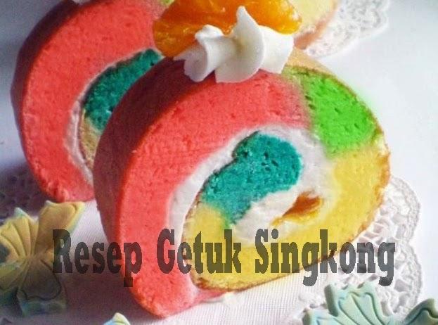 Resep Getuk Singkong Gulung Rainbow