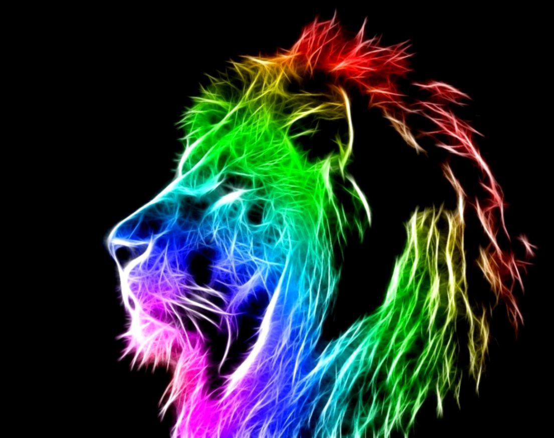 cool lion colorful wallpaper hd desktop | best image background