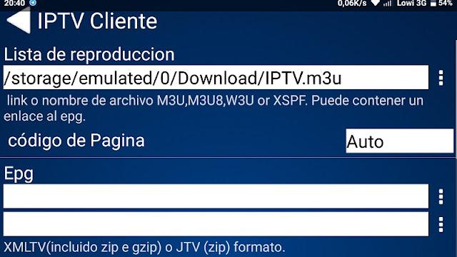 Menu app PROGTV