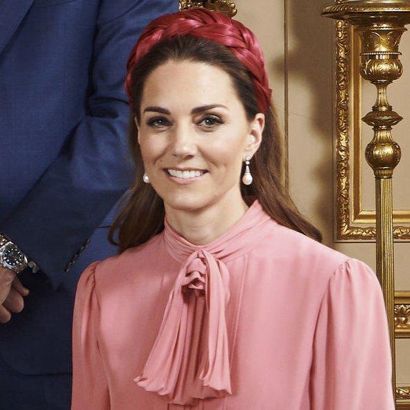 Kate Middleton wore Juliette Botterill Millinery Pleated Pillbox