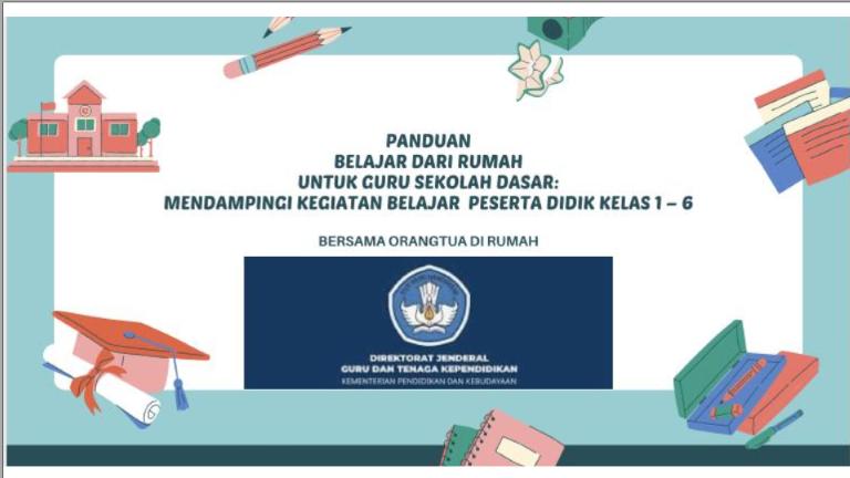 Panduan Kegiatan Belajar Dari Rumah (BDR) Untuk Guru SD