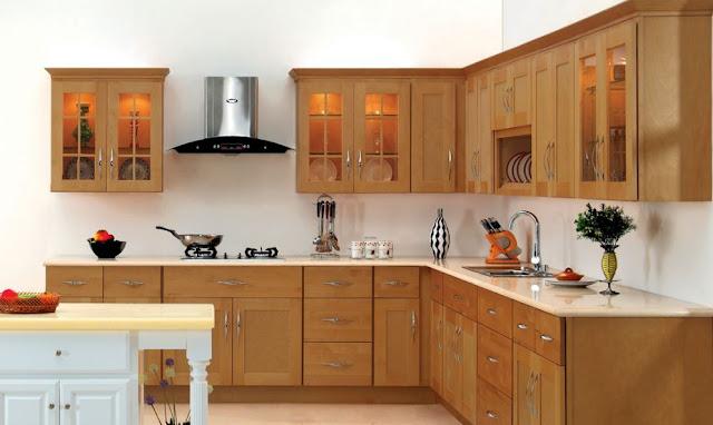 Cách phối màu độc đáo của tủ bếp gỗ acrylic.