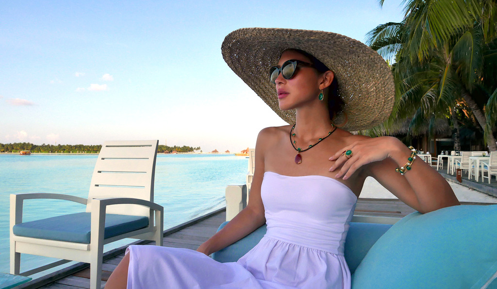Euriental | fashion & luxury travel | Donatella Balsamo jewellery in the Maldives