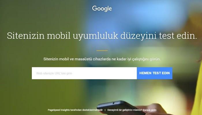 Google Yeni Mobil Web Sitesi Hız Testi