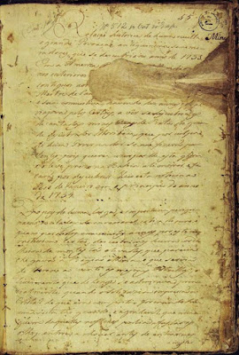 Trang đầu tiên của Manuscript 512 bản gốc tiếng Brasil.