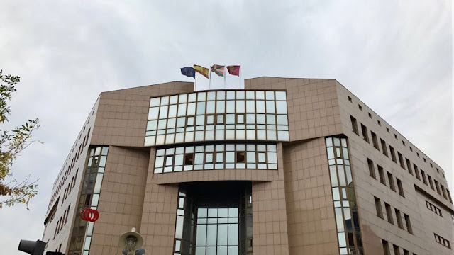 Fachada del palacio de justicia