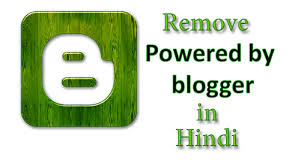Remove Power By Blogger
