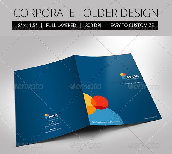 40+ presentation folder templates for any business - designsmag, Presentation templates