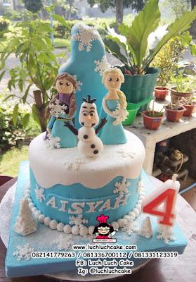 Kue Tart Ulang Tahun Anak Cewek Frozen Disney