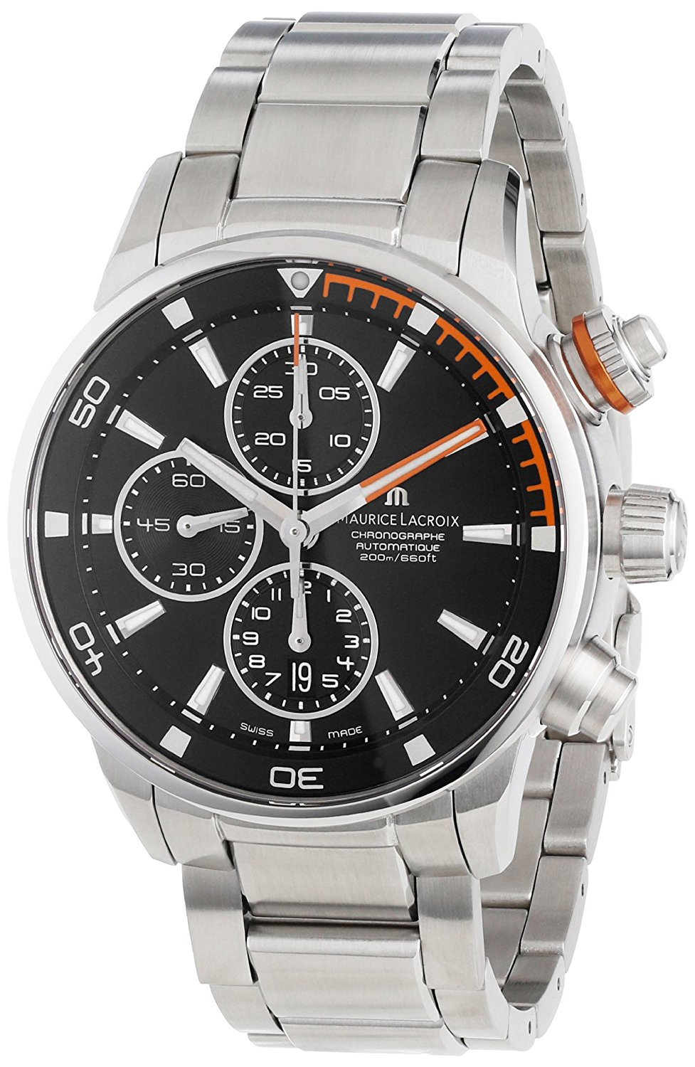 MAURICE LACROIX PONTOS S CHRONO ORANGE AUTOMATIQUE