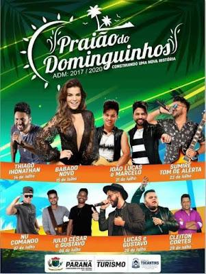 programação temporada 2018 prião do dominguinhos em paranã tocantins